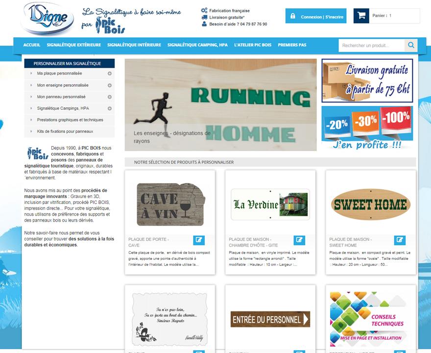 Page d'accueil du site 1signe