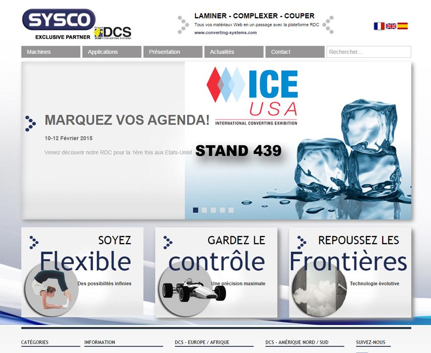 Page d'accueil du site DCS