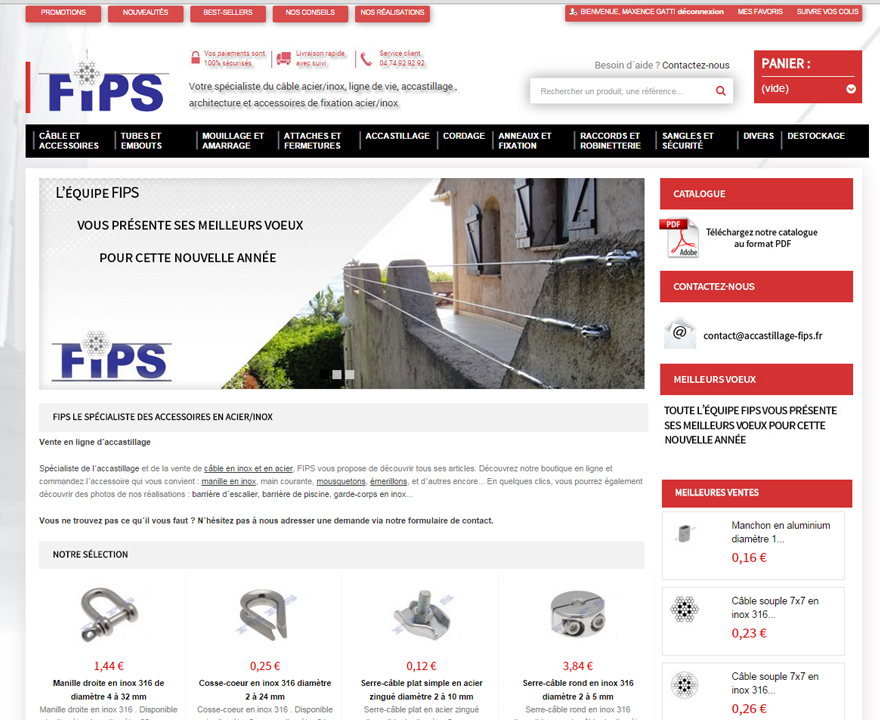 Site e-commerce Accastillage FIPS