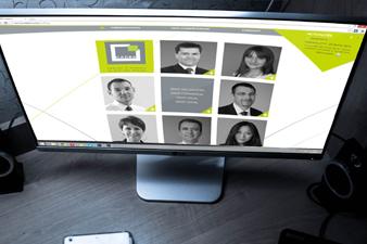 Site de Cadra affiché sur un ordinateur