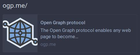 Autre illustration d'un affichage Open Graph